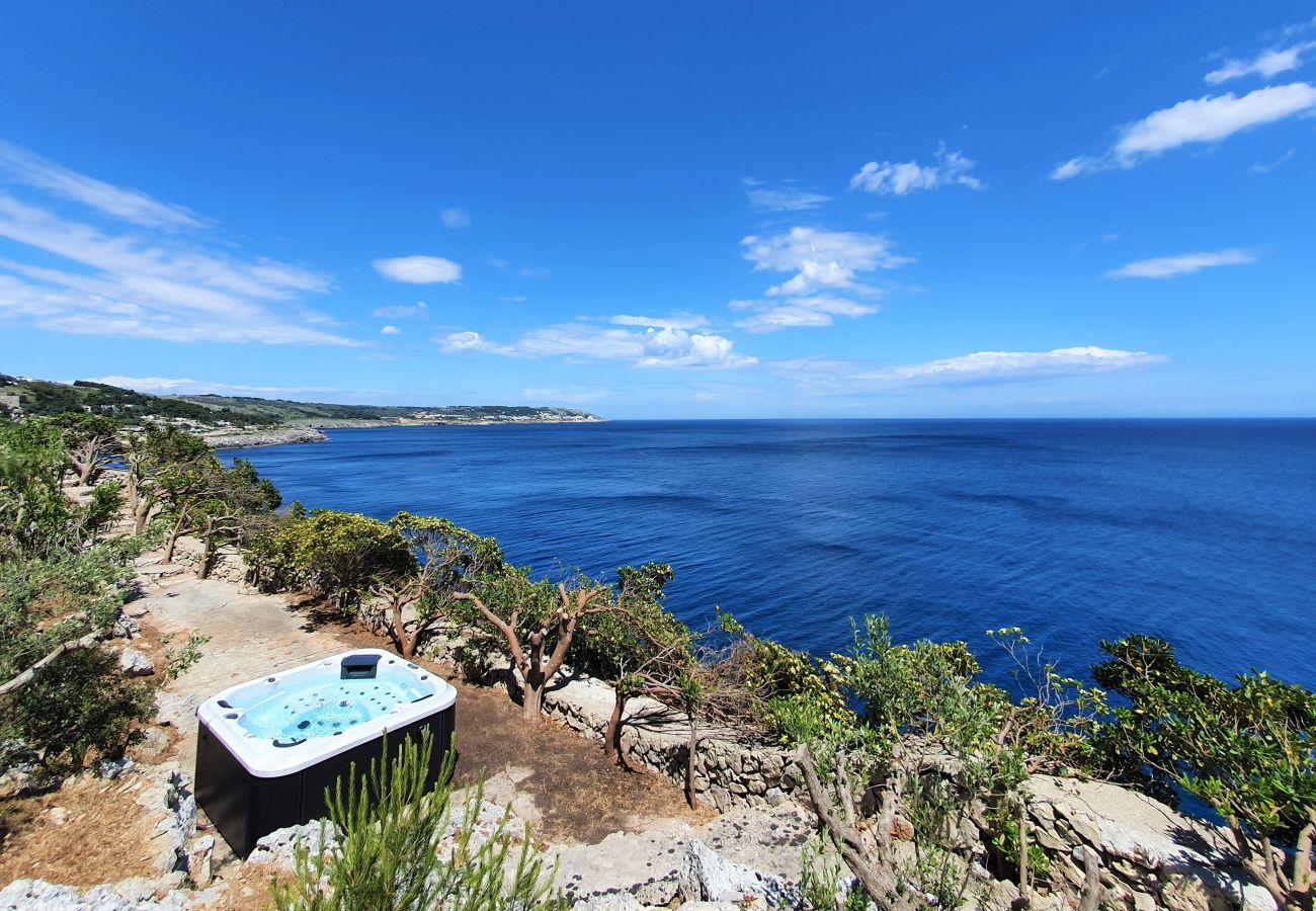 Villa in Castro - Stunning whirlpool villa with sea access, unique location on the cliffs in a park (house B)